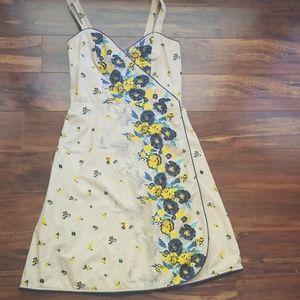 🧨Betsy Johnson🧨 Khaki Floral Print Dress